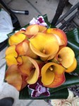 Orchideen lila Brautstrauß